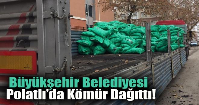 Büyükşehir Belediyesi Polatlı'da kömür dağıttı!