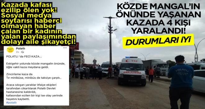 Polatlı'da TIR, Minibüse Minibüs, Otomobile Çarptı: 4 yaralı!