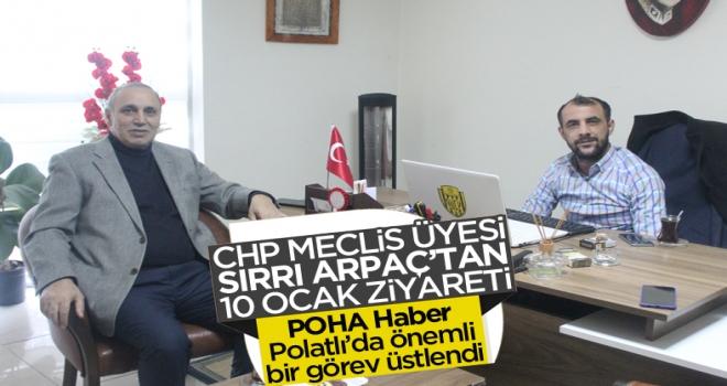 CHP'li Belediye Meclis Üyesi Sırrı Arpaç'tan Gazeteciler Günü ve Başsağlığı Ziyareti