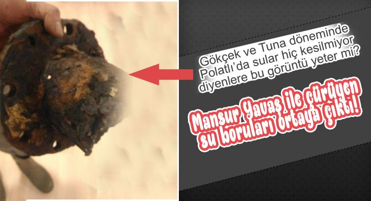 Çürüyen su borularını Büyükşehir değiştiriyor!