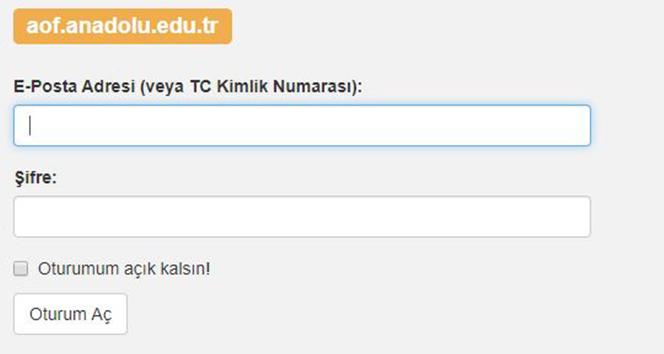 Anadolu Üniversitesi AÖF Sınav Yerleri Sorgulama| AÖF Öğrenci Bilgi Sistemi !