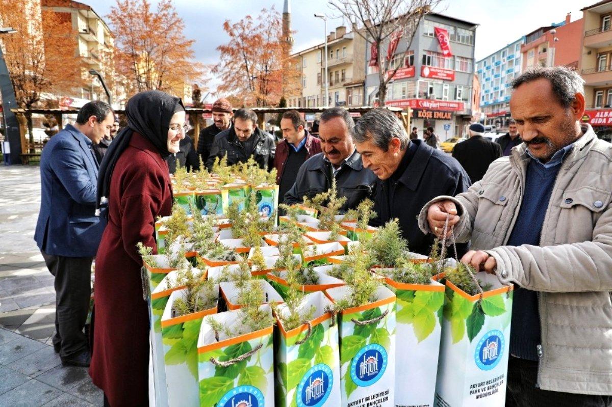 Akyurt Belediyesi nden 8 bin fidan