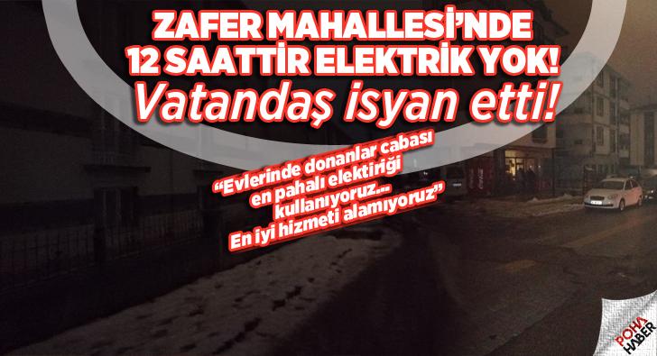 Elektrik kesintisi mahalleliyi çileden çıkarttı!