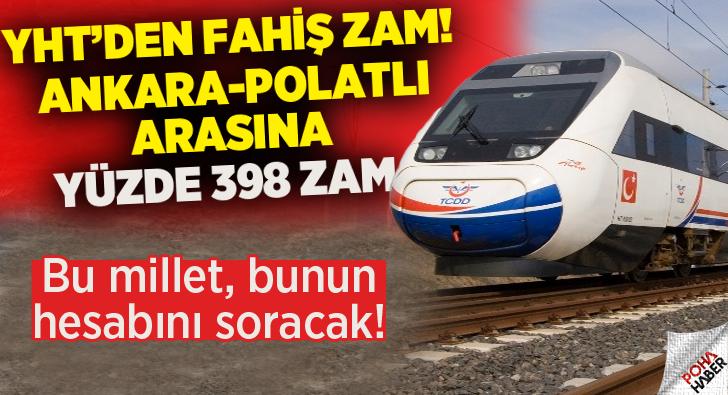 YHT'den Fahiş Zam Tarifesi!