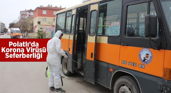 Polatlı'da Korona Virüsü Seferberliği