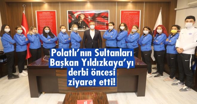 Polatlı'nın sultanları derbi öncesi Başkan Yıldızkaya'yı ziyaret etti!