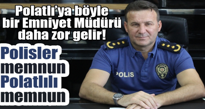 Emniyet Müdürü Şener Derin'e Polatlı Halkından Teşekkür