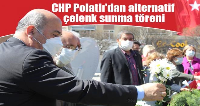 CHP Polatlı'dan alternatif çelenk sunma töreni