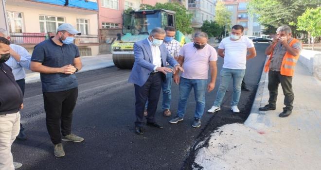 Polatlı Belediyesi Asfaltlama ve kaldırım yenileme çalışmalarına hız verdi!