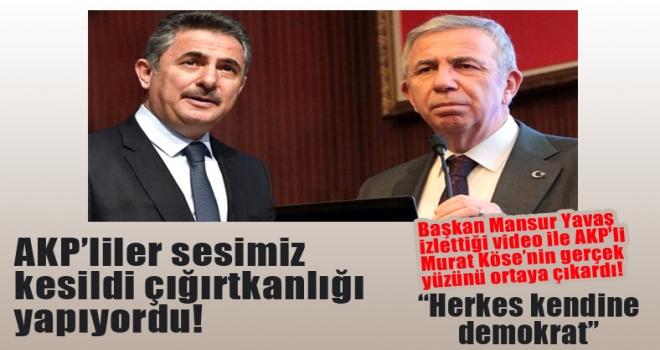 Başkan Yavaş'tan Murat Köse'ye 'Herkes kendine demokrat'
