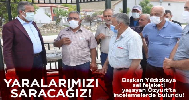 Başkan Yıldızkaya Özyurt ve Türktaciri'nde incelemelerde bulundu1