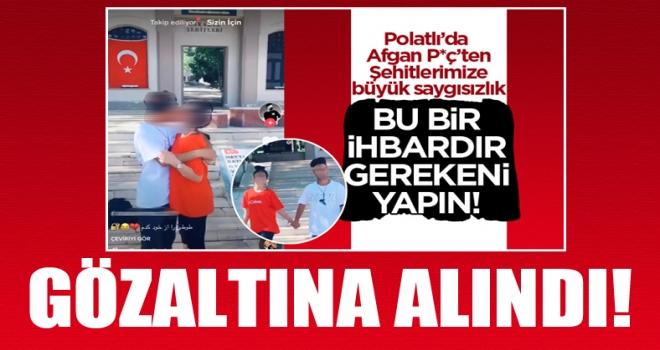 Polatlı'da şehitlerimize saygısızlık yapan kız yakalandı! Afgan uyruklu sevgilisi ise aranıyor!