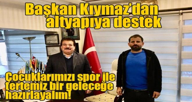 Başkan Kıymaz'dan Polatlıspor'un altyapısına destek!