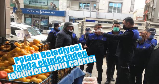 Polatlı Zabıtası'ndan Pazar Yerinde Koronavirüs Denetimi