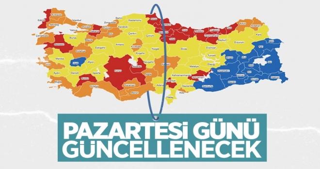 Türkiye'nin korona risk haritası, kabine toplantısında güncellenecek