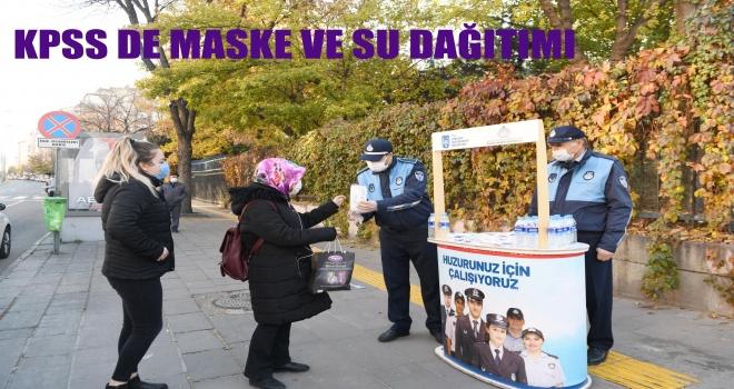 Büyükşehir Belediyesinden KPSS İçin Maske Dağıtımı