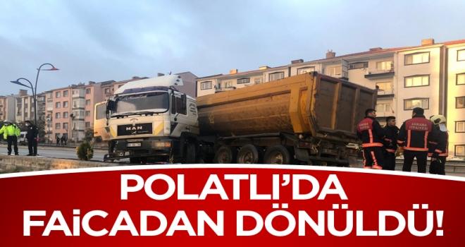 Polatlı'da faciadan dönüldü! 1 Yaralı