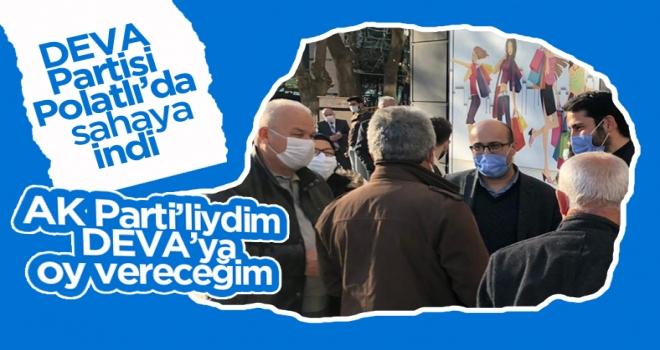 Polatlı'da esnaf ve vatandaşlardan DEVA'ya yoğun ilgi!