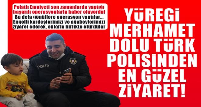 Polatlı'da polisler engelli çocukları ziyaret etti