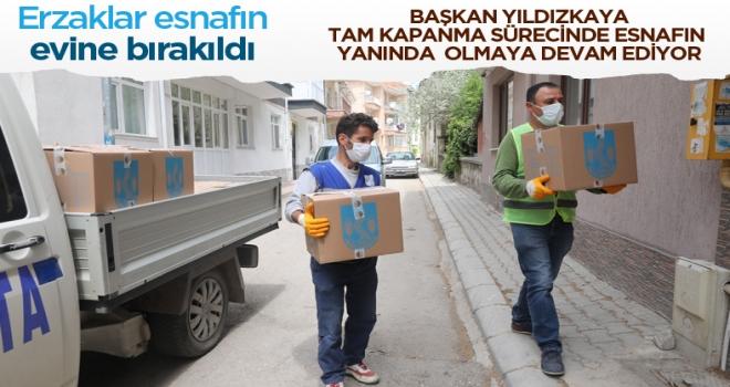 Başkan Yıldızkaya'dan esnafa tam kapanmada destek!