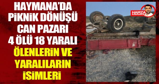 Haymana'da katliam gibi kaza: Römork devrildi! 7 ölü çok sayıda yaralı var