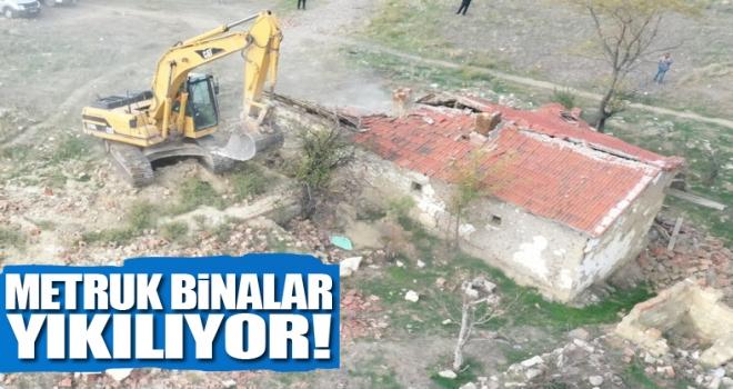 Polatlı'da 'Metruk Binalar' Yıkılıyor!
