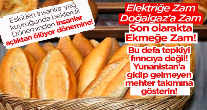 Polatlı'da ekmeğin fiyatı: 1,75 TL oldu!