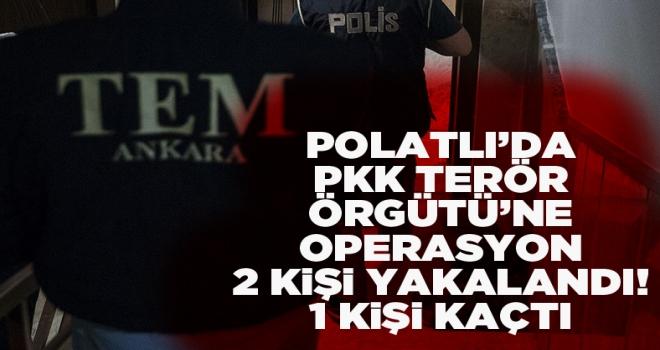 Polatlı'da PKK'ya yönelik operasyonda 2 şüpheli yakalandı