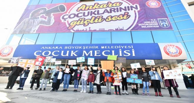 Başkentten Dünyaya Gönderilen Çocuk Mesajları
