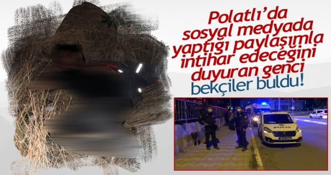 Polatlı'da bir kişi sosyal medya hesabı üzerinden 'intihar ediyorum' dedi!