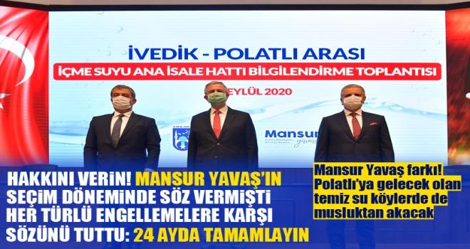 Polatlı'nın su sorunu Mansur Yavaş ile birlikte çözülüyor: Polatlı temiz suya kavuşuyor!