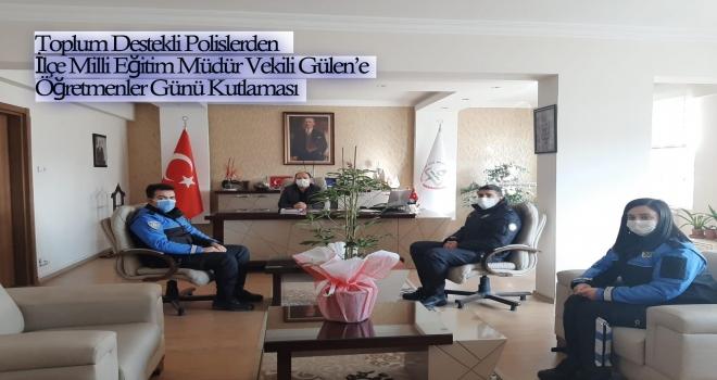 Polatlı Toplum Destekli Polislerden Öğretmenler Günü Ziyareti