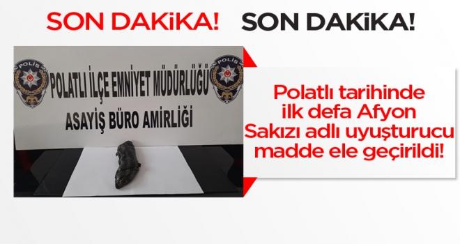 Son dakika haber... Polatlı'da 500 gram Afyon sakızı ele geçirildi