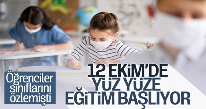 12 Ekim'de tüm ilkokul, 8 ve 12. sınıflar açılıyor