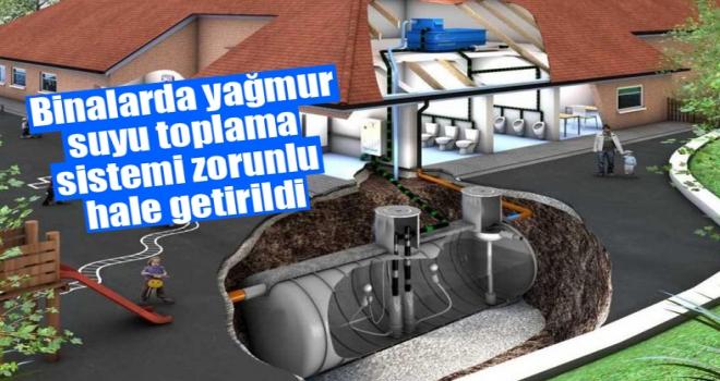 Binalarda 'yağmur suyu toplama sistemi' zorunlu hale getirildi