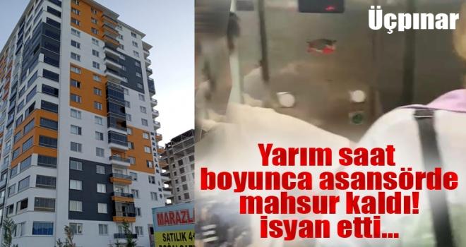 Polatlı'da asansörde kalan vatandaşlardan müteahhite tepki