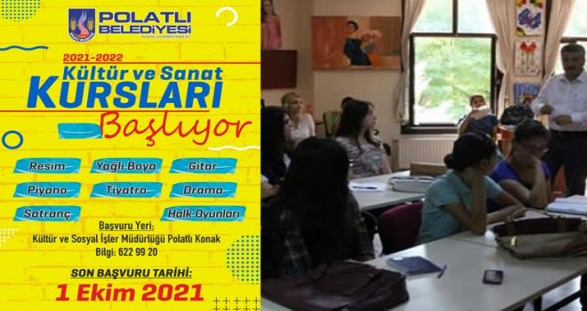 Polatlı Belediyesi Kültür ve Sanat Kursları başlıyor!