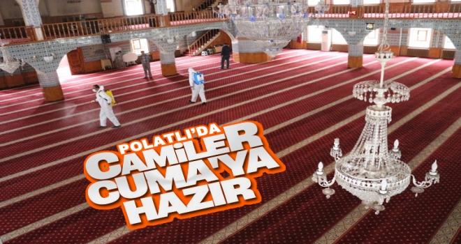 Polatlı'da camiler ibadete hazır hale getirildi