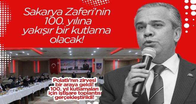 Polatlı'nın zirvesi 100'ncü yıl için toplandı!