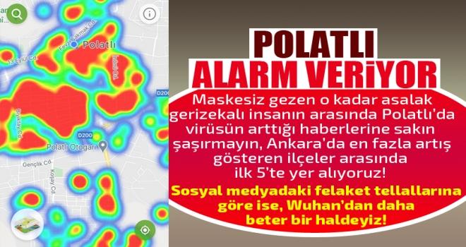 Ankara ilçelerinin koronavirüs vaka sayısında Polatlı 5. sırada!