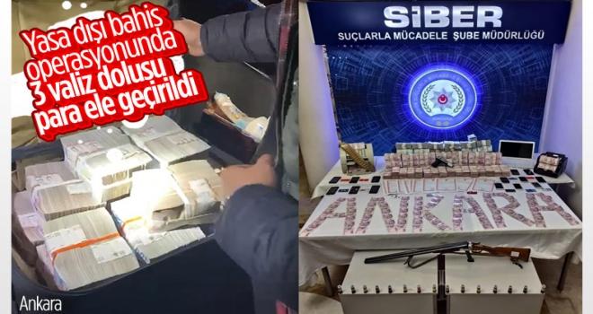Ankara polisinden yasa dışı sanal bahis operasyonu