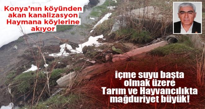 15 yıldır devam eden Kanalizasyon sorunu köylülerin canına tak etti!
