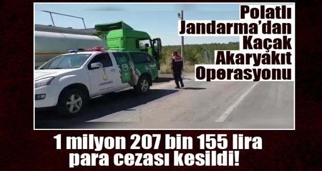 Jandarma ekiplerince Polatlı'da 24 ton kaçak akaryakıt ele geçirildi