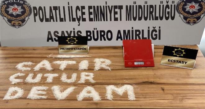 Polatlı Emniyeti Çatır Çutur Uyuşturucuyla Mücadeleye Devam Ediyor!