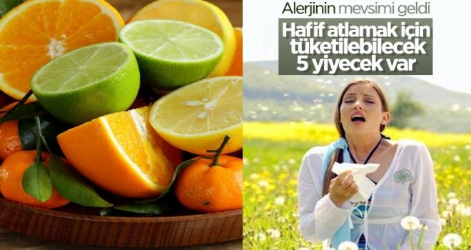 Mevsimsel alerjilere karşı tüketilebilecek 5 gıda