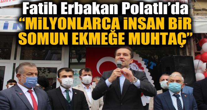 Fatih Erbakan, Polatlı'da partisinin ilçe binasının açılışına katıldı!