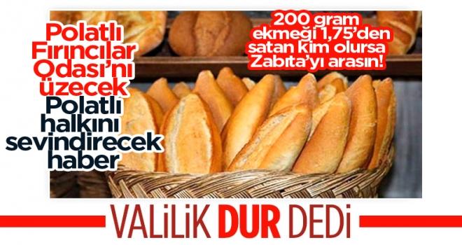 Ankara Valiliği, ekmek zammında devreye girdi