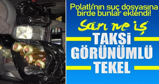 Polatlı'da ticari taksisiyle kısıtlama gününde evlere içki servisi yapılıyor!