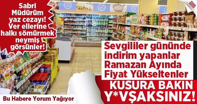 Polatlı'da marketlerde Ramazan bindirmesi!