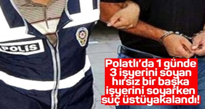 Polatlı'da telefon bayilerinden hırsızlık yapan zanlı tutuklandı!
